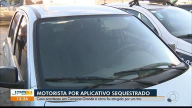 Motorista por aplicativo é sequestrado em Campina Grande - Carro da vítima é encontrado com marcas de tiro