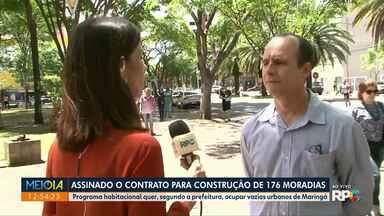 Assinado o contrato para construção de 176 apartamentos - Programa habitacional quer, segundo a prefeitura ocupar vazios urbanos de Maringá.