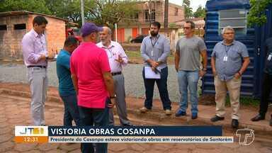 Presidente da Cosanpa visita Santarém para vistoriar obras de saneamento - Obras estão sendo realizadas em reservatórios que não estavam funcionavam.