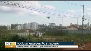 Perseguição e tiroteio no bairro Despraiado, em Cuiabá - Perseguição e tiroteio no bairro Despraiado, em Cuiabá.