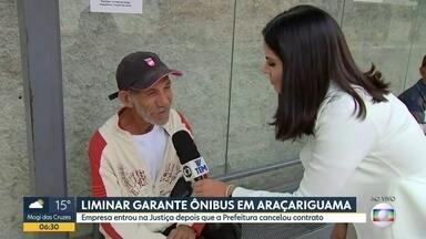 Liminar garante circulação de ônibus em Araçariguama - Empresa entrou na Justiça depois que a Prefeitura rompeu contrato.