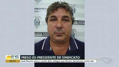 Ex-sindicalista acusado de tentativa de homicídio é preso em Guarapari, ES - José Pansini, de 47 anos, foi preso em um chácara de Guarapari depois de uma denúncia anônima. Segundo a polícia, ele é acusado de matar dois colegas do sindicato.