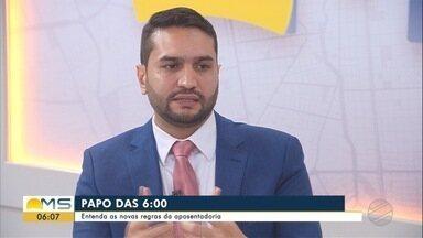 Presidente da Comissão de Direito Previdenciário da OAB é o entrevistado do Papo das 6 - Advogado Marcos de Castro está no quadro do Bom Dia MS.