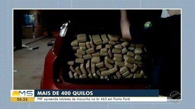 Polícia apreende maconha em MS - Mato Grosso do Sul é um dos principais corredores de entrada de droga no Brasil.