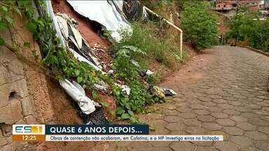 Obras de conteção em Colatina não são concluídas e Ministério Público investiga erros - Obras começaram há 6 anos e foram paralisadas.