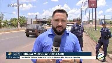 Homem é atropelado e morto na avenida Júlio Campos, em VG - Homem é atropelado e morto na avenida Júlio Campos, em VG