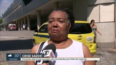 Pacientes dizem que cirurgias são canceladas por falta de material no Souza Aguiar - Tem paciente internado há um mês a espera de cirurgia de urgência.