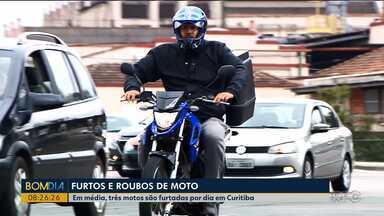 Em média, três motos são furtadas por dia em Curitiba - O número de roubos e furtos de motocicletas aumentou com relação a 2018.
