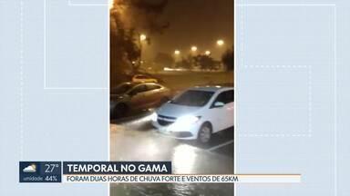 Gama tem chuva forte e ventos de até 65km - Segundo o Inmet, foram duas horas de chuva na noite dessa sexta-feira (25), no Gama.
