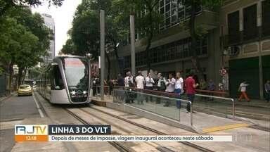 Linha 3 do VLT é inaugurada depois de meses de impasse - A Linha 3 liga a Central o Brasil ao Aeroporto Santos Dumont. A viagem dura, em média, 18 minutos.