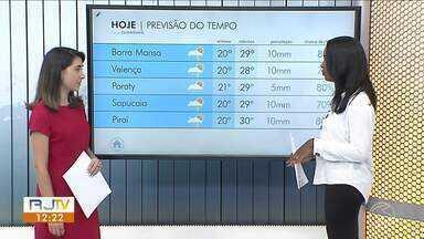 Fim de semana será de temperaturas altas no Sul do Rio de Janeiro - Há chance de pancadas de chuvas durante a tarde em algumas cidades da região.
