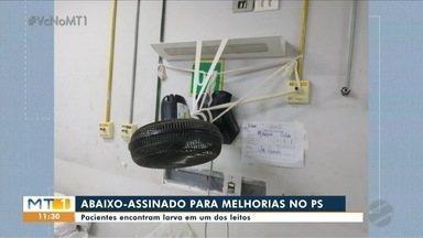 Pacientes encontram larvas em leito do PS de Cuiabá - Pacientes encontram larvas em leito do PS de Cuiabá.