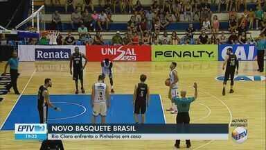 Basquete de Rio Claro enfrenta o Pinheiros pelo NBB - Jogo é disputado em Rio Claro na noite deste sábado (26).