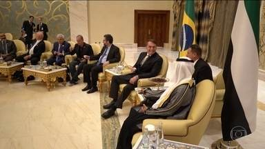 Em busca de investimentos, presidente Jair Bolsonaro chega a Abu Dhabi - Emirados Árabes Unidos são a terceira escala da viagem internacional do presidente.