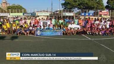 Copa Marcílio Dias Sub-14 convoca nova geração para a prática do futebol - Competição de jovens talentos acontece na Praça Nossa Senhora da Conceição em Macapá.