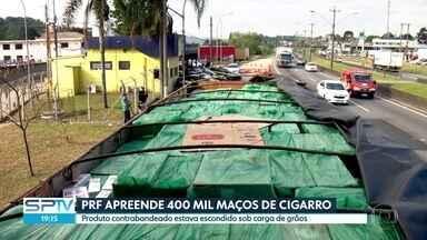 Polícia apreende 400 mil maços de cigarros contrabandeados - Carga foi encontrada na Rodovia Régis Bittencourt, entre São Lourenço e Itapecerica da Serra.