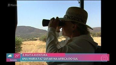 Ana Maria e Louro José fizeram safári na África do Sul em 2005 - Na viagem inesquecível, a apresentadora flagrou leões fazendo um banquete após uma caça e ainda foi atrás dos outros grandes da África