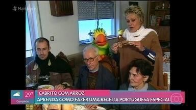 Em 2002, Ana Maria aprendeu a fazer prato de cabrito na casa de uma família portuguesa - Relembre a viagem da apresentadora às margens do Rio D´Ouro, Portugal