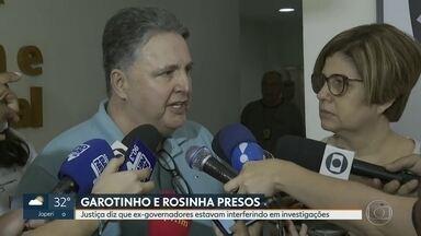 Ex-governadores Anthony Garotinho e Rosinha Matheus são novamente presos - A Justiça derrubou um habeas corpus concedido aos dois em setembro e decidiu que os ex-governadores deveriam voltar para a cadeia por estarem ameaçando uma testemunha do processo.