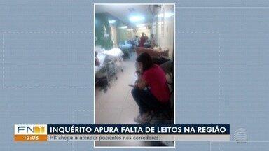 MPE apura falta de leitos para internação em hospitais no Oeste Paulista - Superlotação faz com que pacientes sejam atendidos nos corredores.