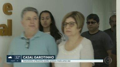 A defesa dos ex-governadores Garotinho e Rosinha entrou com pedido de Habeas Corpus. - Os dois foram presos no início da manhã desta quarta-feira. Eles recorreram ao STJ. O pedido vai ser analisado pelo Ministro Leopoldo de Arruda Raposo.