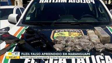 Fuzil falso é apreendido em Maranguape - Saiba mais em g1.com.br/ce