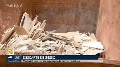 Alguns ecopontos de Uberlândia passarão a receber resíduos de gesso - Os ecopontos ficam abertos das 7h às 19h, de segunda a sexta-feira. Secretário de Meio Ambiente e Serviços Urbanos deu mais informações sobre a medida.