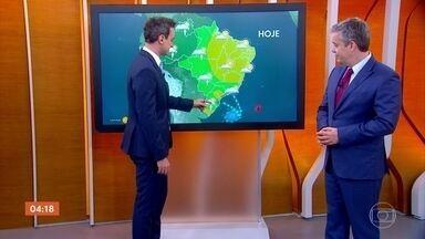 Calor predomina em boa parte do país nesta sexta-feira - A umidade do ar despenca no interior do Nordeste e no norte de Minas Gerais.