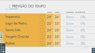 Veja as variações das temperaturas no Maranhão - Confira a previsão do tempo nesta sexta-feira (1º) em São Luís e também no interior do estado.