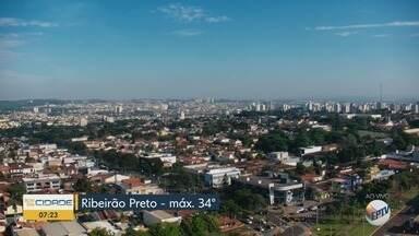 Confira a previsão do tempo para esta sexta-feira (1º) em Ribeirão Preto - Temperatura pode chegar a 34°C.