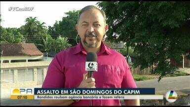 Assaltantes explodem caixa eletrônico, atiram contra policiais e atingem reféns no Pará - Assaltantes explodem caixa eletrônico, atiram contra policiais e atingem reféns no Pará