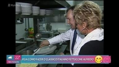 Ana Maria aprende a fazer o clássico Fettuccini Alfredo em Roma - Relembre a viagem da apresentadora à Itália em 2003