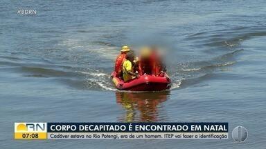 Corpo sem cabeça e com os pés amarrados é encontrado no Rio Potengi em Natal - Corpo sem cabeça e com os pés amarrados é encontrado no Rio Potengi em Natal