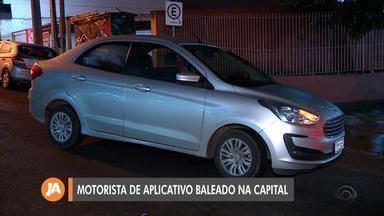 Motorista de aplicativo é baleado na Capital - Assista ao vídeo.