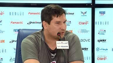 Perto do G4, técnico do Paraná Clube desabafa - Matheus Costa defendeu trabalho na equipe e disse que Tricolor vai subir para a primeira divisão
