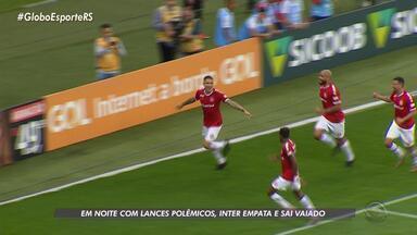 Inter empata com Athlético Paranaense e sai de campo vaiado - A partida foi marcada por lances polêmicos.