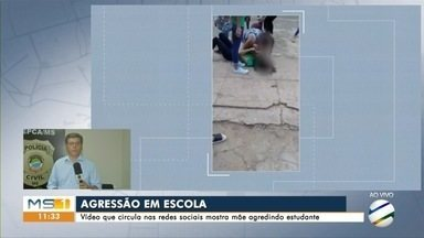Mãe de aluna agredida em escola de Campo Grande diz que ficou em choque com vídeos - Mãe de aluna agredida em escola de Campo Grande diz que ficou em choque com vídeos