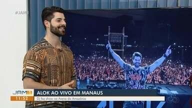 Alok apresenta show em Manaus - Dj concedeu entrevista ao JAM1.