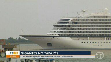 Primeiro navio da temporada da chegada de transatlânticos chega a Santarém - Navio norueguês 'Vaiquim San' trouxe 1900 turistas de vários países.