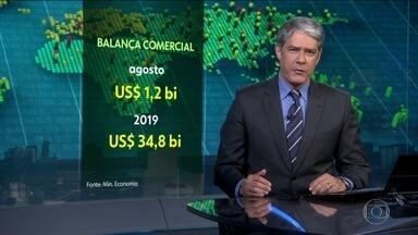 Balança comercial brasileira tem superávit de US$ 1,2 bi, em outubro - Superávit acumulado em 2019 está em US$ 34,8 bi.