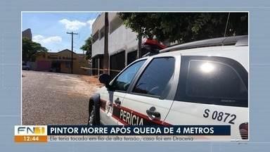 Acidente de trabalho mata pintor em obra particular em Dracena - Homem sofreu descarga elétrica de alta tensão e despencou de prédio no bairro Metrópole.