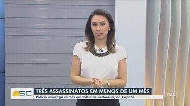 Polícia investiga assassinatos em trilha de cachoeira em Florianópolis - Polícia investiga assassinatos em trilha de cachoeira em Florianópolis