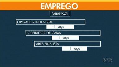 Confira as vagas de emprego disponíveis na região Noroeste - Em Paranavaí, tem uma oportunidade para operador de caixa.