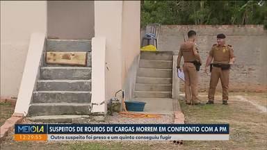 Suspeitos de roubos de cargas morrem em confronto com a PM - Só neste ano, 54 pessoas foram presas em Curitiba e região.