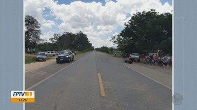 Motociclista morre atingido por caminhonete na BR-459, em Congonhal - Motociclista morre atingido por caminhonete na BR-459, em Congonhal