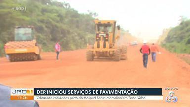 DER dá início a obras de pavimentação no anel viário - Local é motivo de muita reclamação por proximidade a dois hospitais.