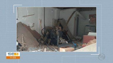 Assaltantes explodem ponto eletrônico em Brejo Grande - Assaltantes explodem ponto eletrônico em Brejo Grande.