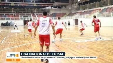 Futsal de Joinville se prepara para jogo de volta - Futsal de Joinville se prepara para jogo de volta