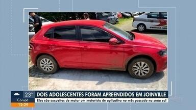 Polícia prende suspeitos de matarem motorista por aplicativo em Joinville - Polícia prende suspeitos de matarem motorista por aplicativo em Joinville