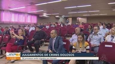 Mutirão vai julgar mais de 30 processos de crimes dolosos, em Macapá - Mutirão vai julgar mais de 30 processos de crimes dolosos, em Macapá